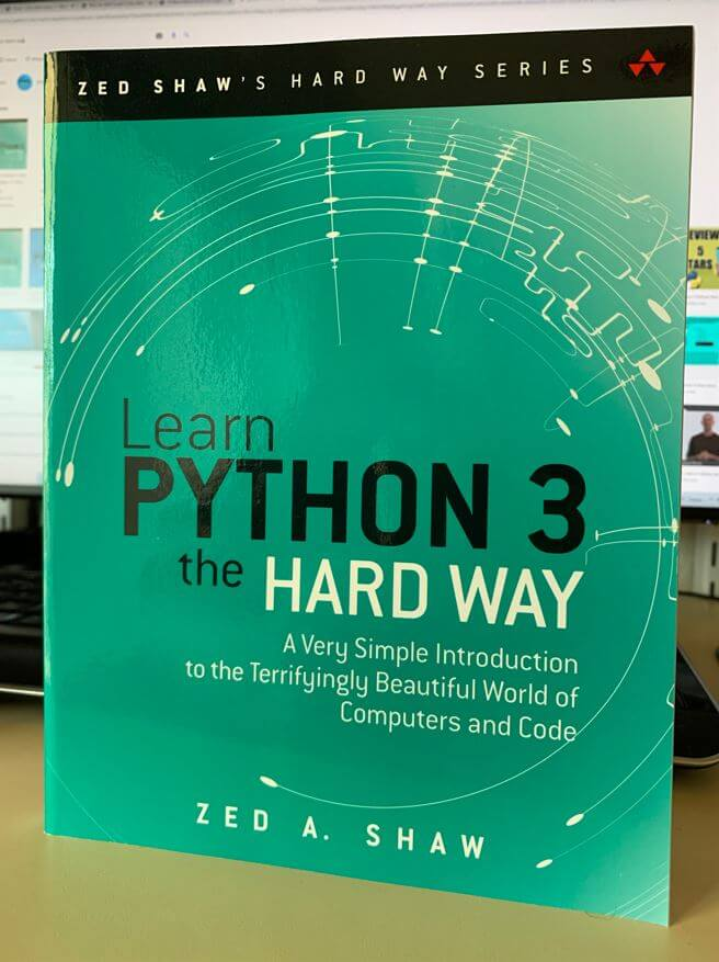 Learn Python 3 the Hard way (front cover)